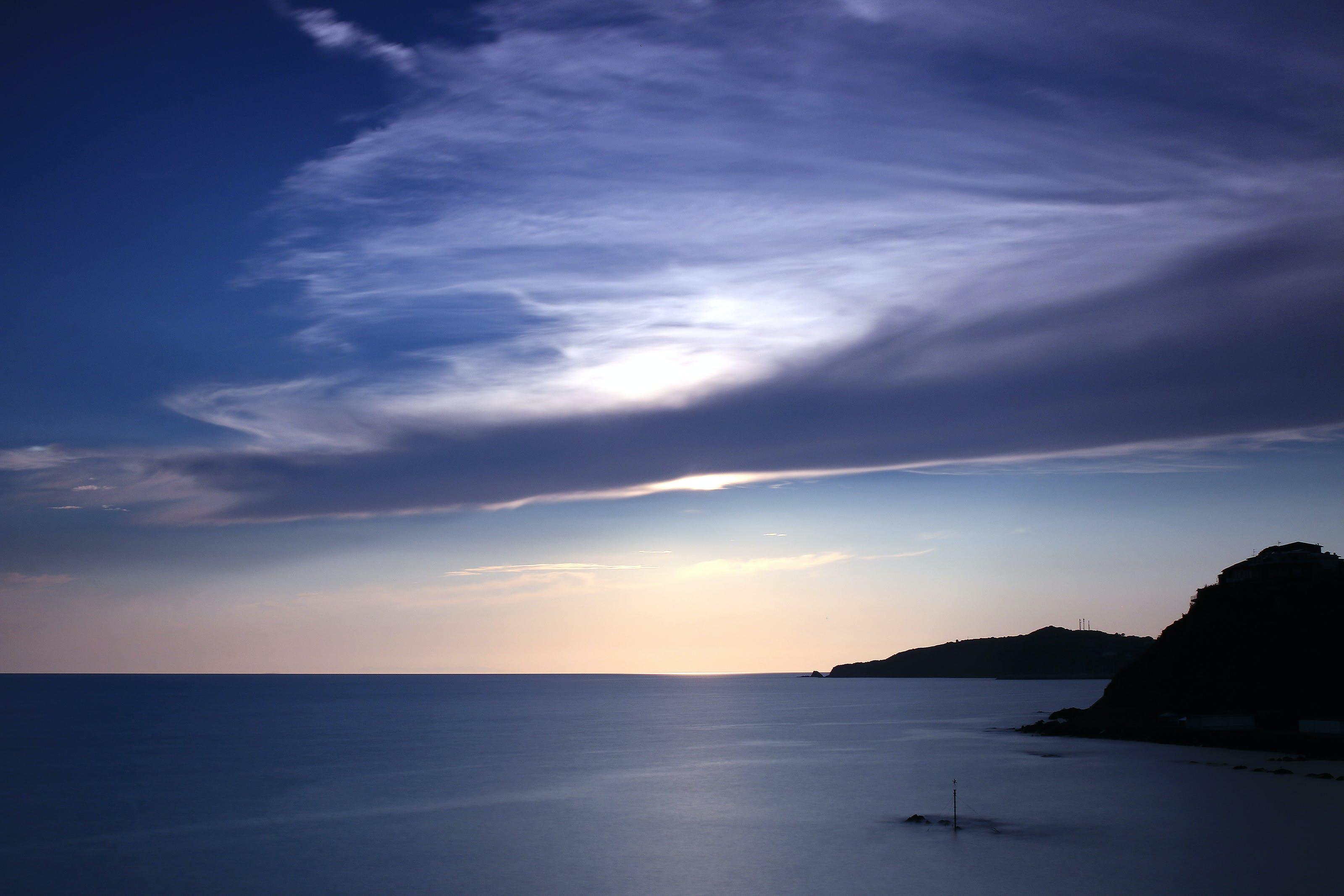Kostenloses Stock Foto zu bewölkt, blau, himmel, meer