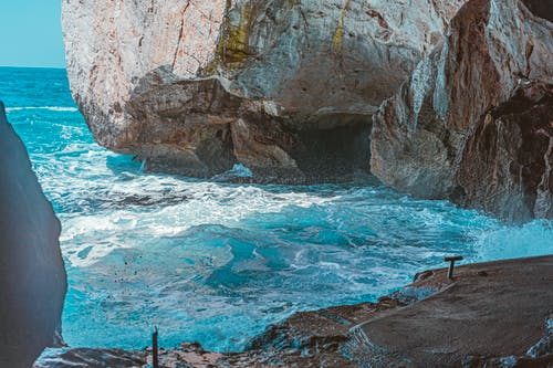 Free stock photo of blue, rock, sea