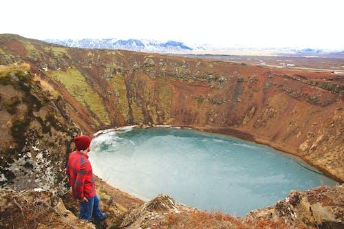 Darmowe zdjęcie z galerii z islandia, krater, przygoda, wędrować