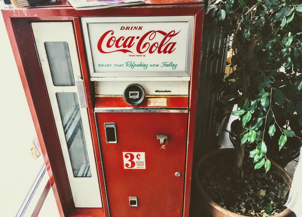 Red and White Coca-cola Vending Machine