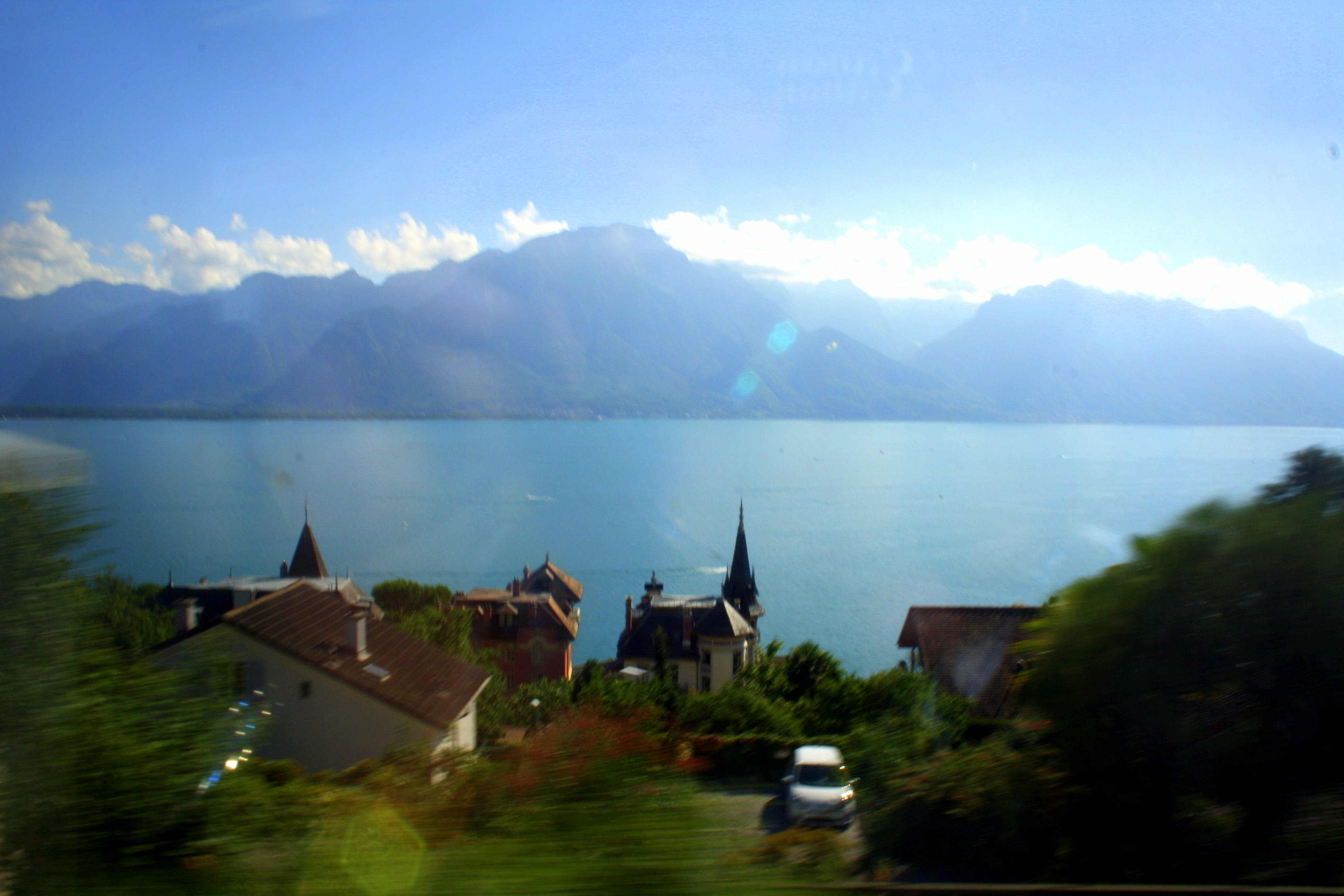 Free stock photo of geneva, lake, mountain, nature