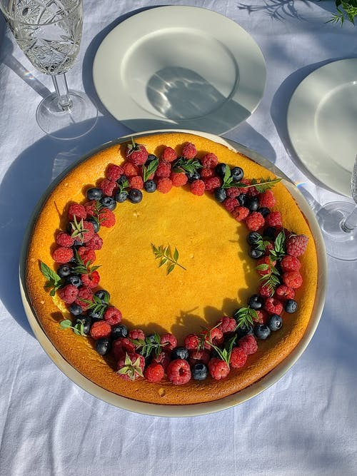 Pie Decorated with Different Berries