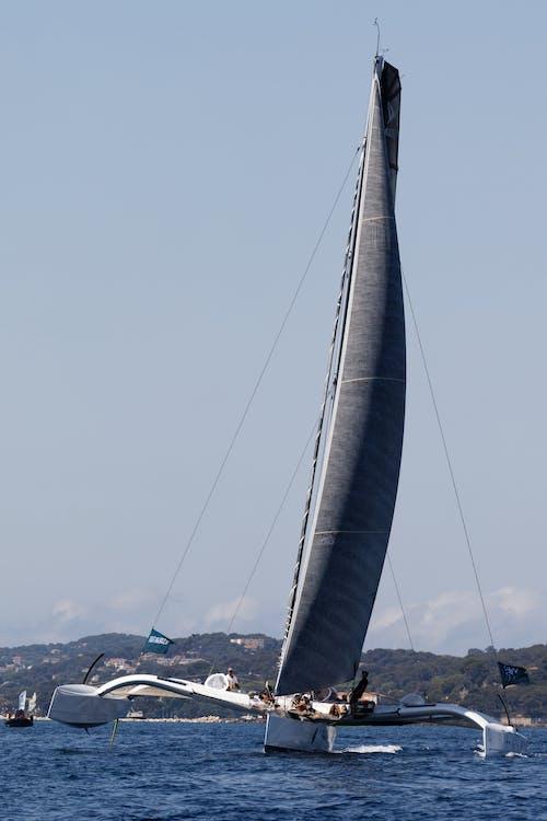 Black Sailboat on Sea