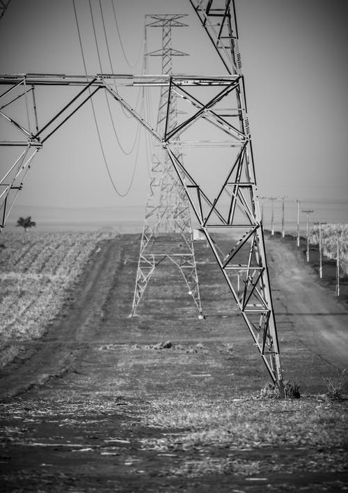 Transmission Towers in Field