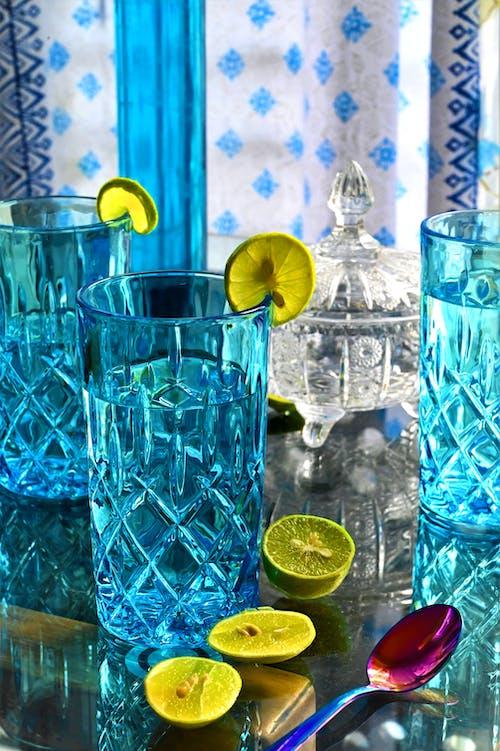 Foto profissional grátis de azul, fotografia ainda, limão