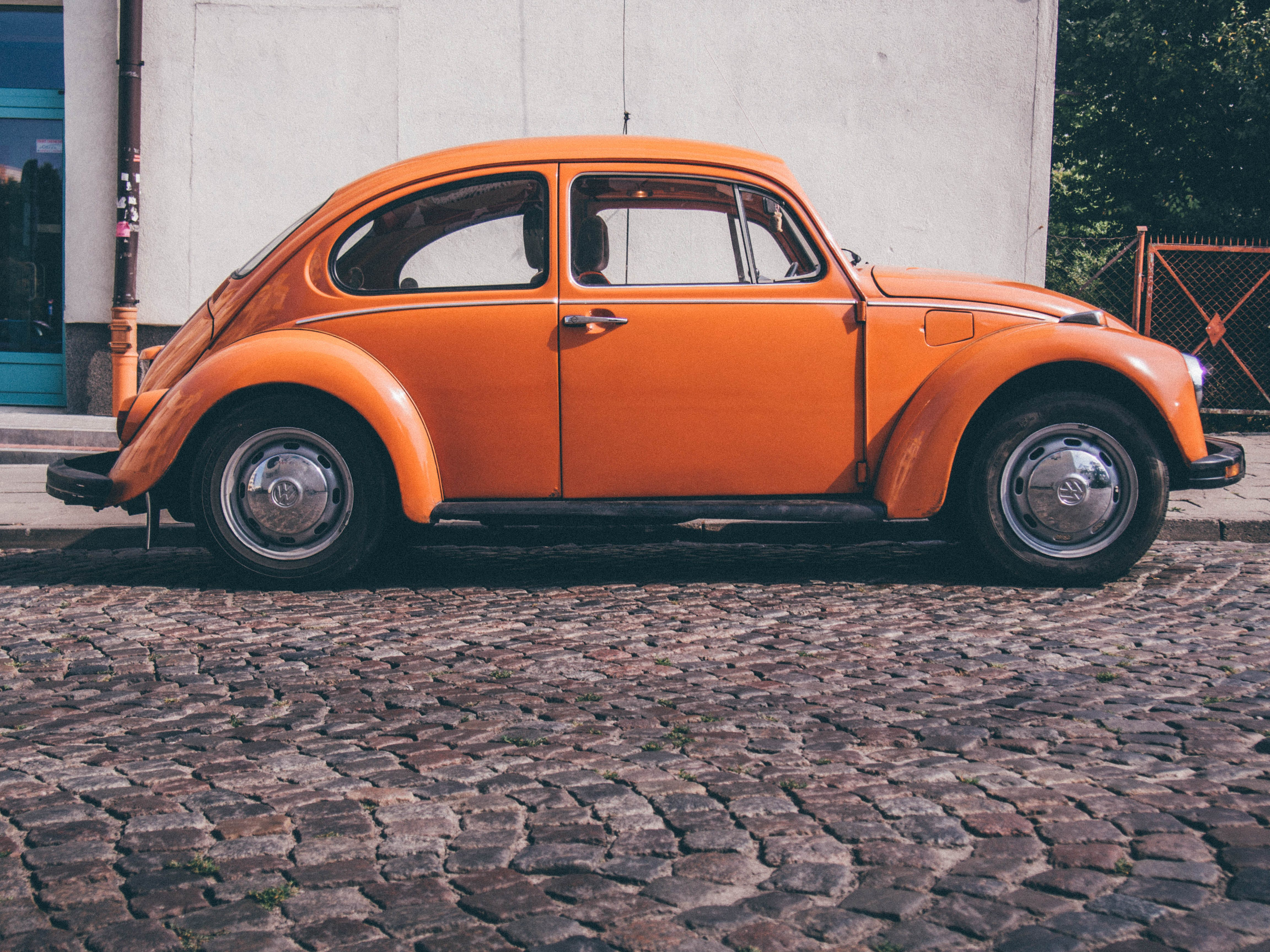 Vintage Orange Car