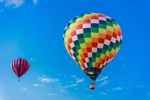 Free stock photo of basket, colorful, flight