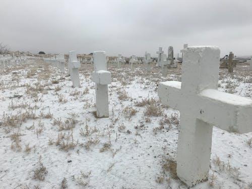 Foto d'estoc gratuïta de #outdoorchallenge, blanc, cementiri, constipat