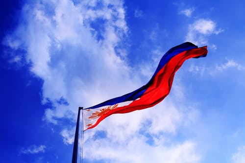 Foto profissional grátis de Ásia, azul, bandeira filipina, brilhante