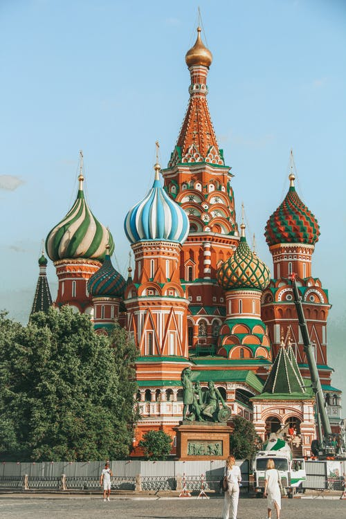 The Saint Basil's Cathedral on Moscow