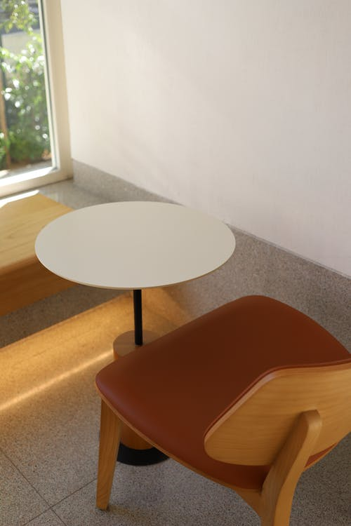 A Coffee Table and an Empty Chair