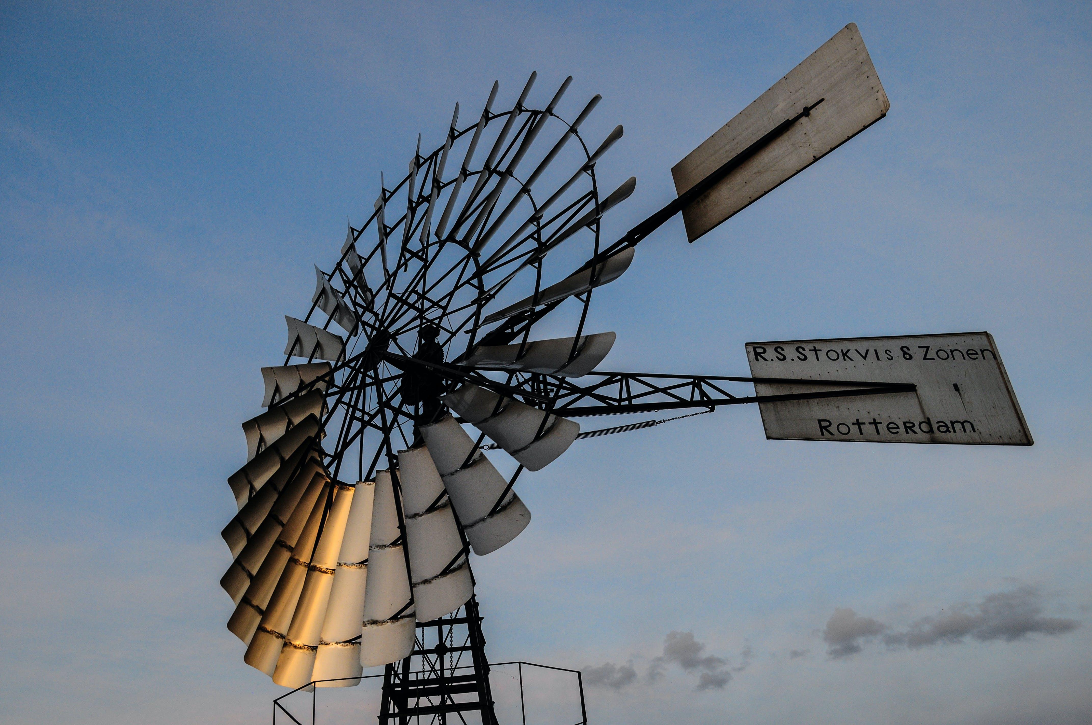 Low-angle Photo of Windmill Pump