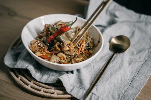 Ingyenes stockfotó asztal, az egészséges táplálkozás, ázsiai étel témában