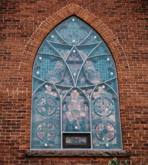 Free stock photo of arch window, church window, stained glass