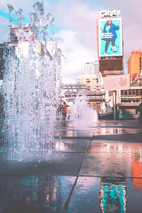 Základová fotografie zdarma na téma billboard, budovy, centrum města