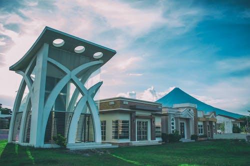 Kostenloses Stock Foto zu architektur, gebäude, himmel, mayon-vulkan