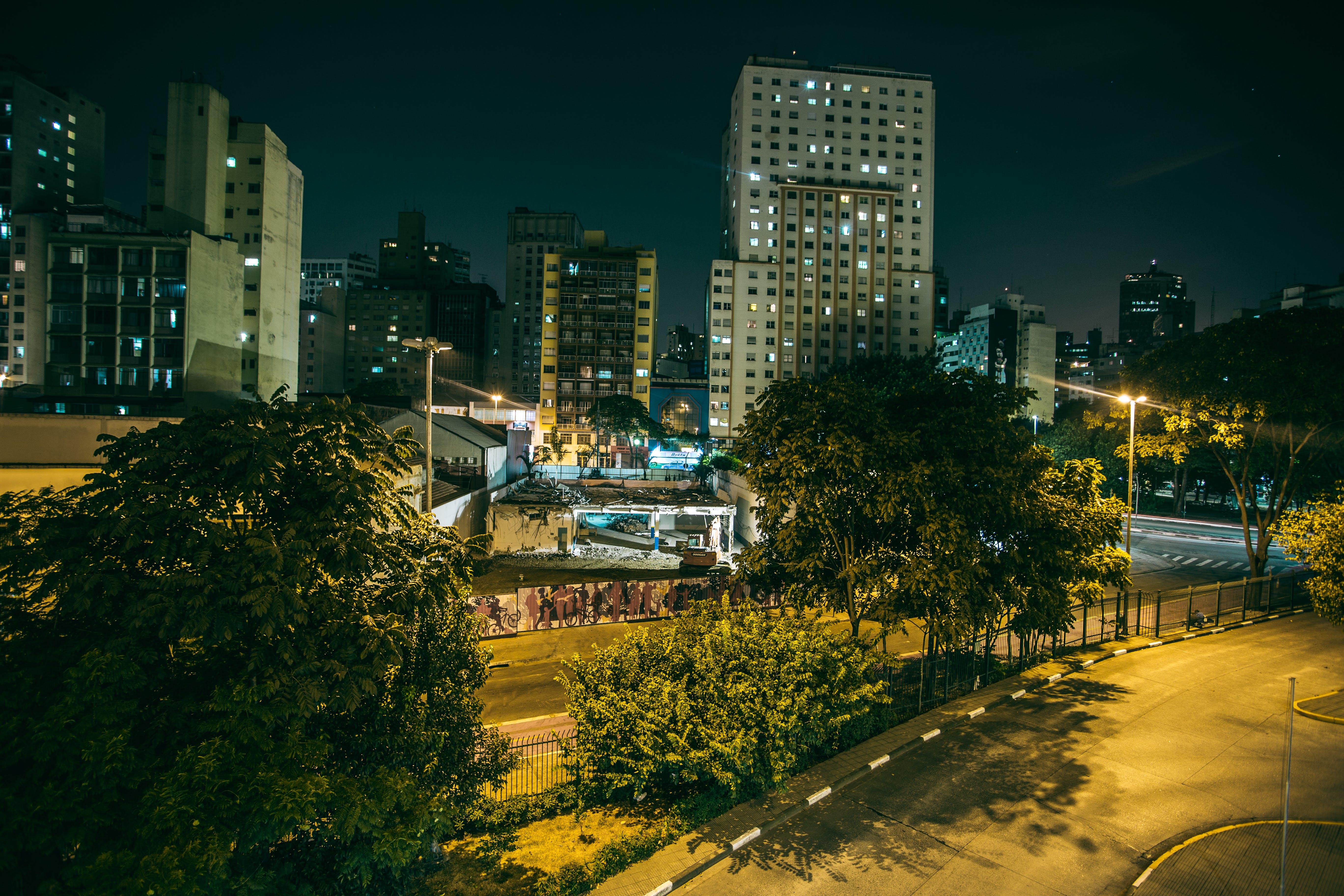 Foto d'estoc gratuïta de arbres, arquitectura, carrer, carreteres