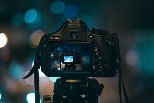 Black Camera Capturing Another Camera