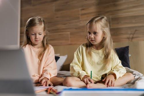 兒童, 在家, 在线学习 的 免费素材图片