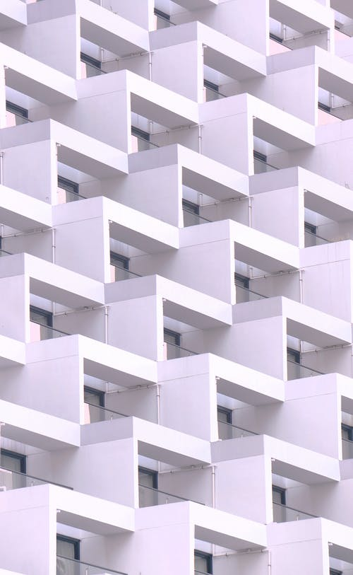 Identical Balconies on a Building