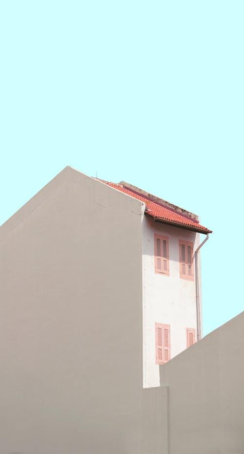 Ảnh lưu trữ miễn phí về bắn dọc, bức tường trắng, các cửa sổ