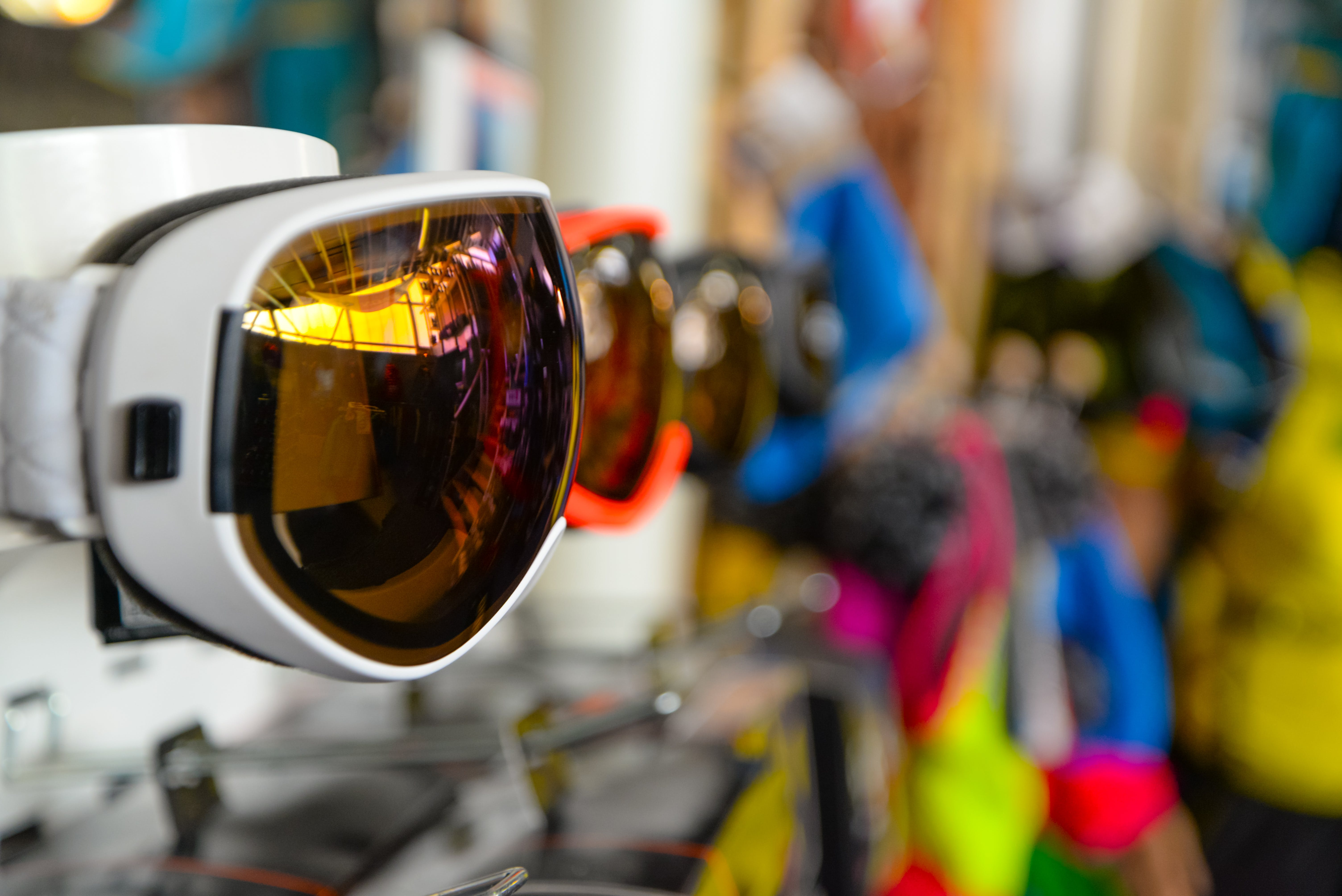 Selective Focus Photography of White Framed Sports Sunglasses