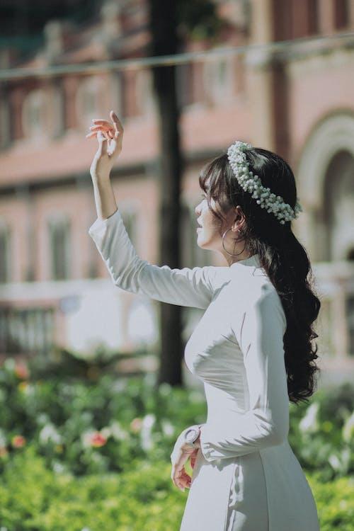 Free stock photo of adult, ao dai, asian girl