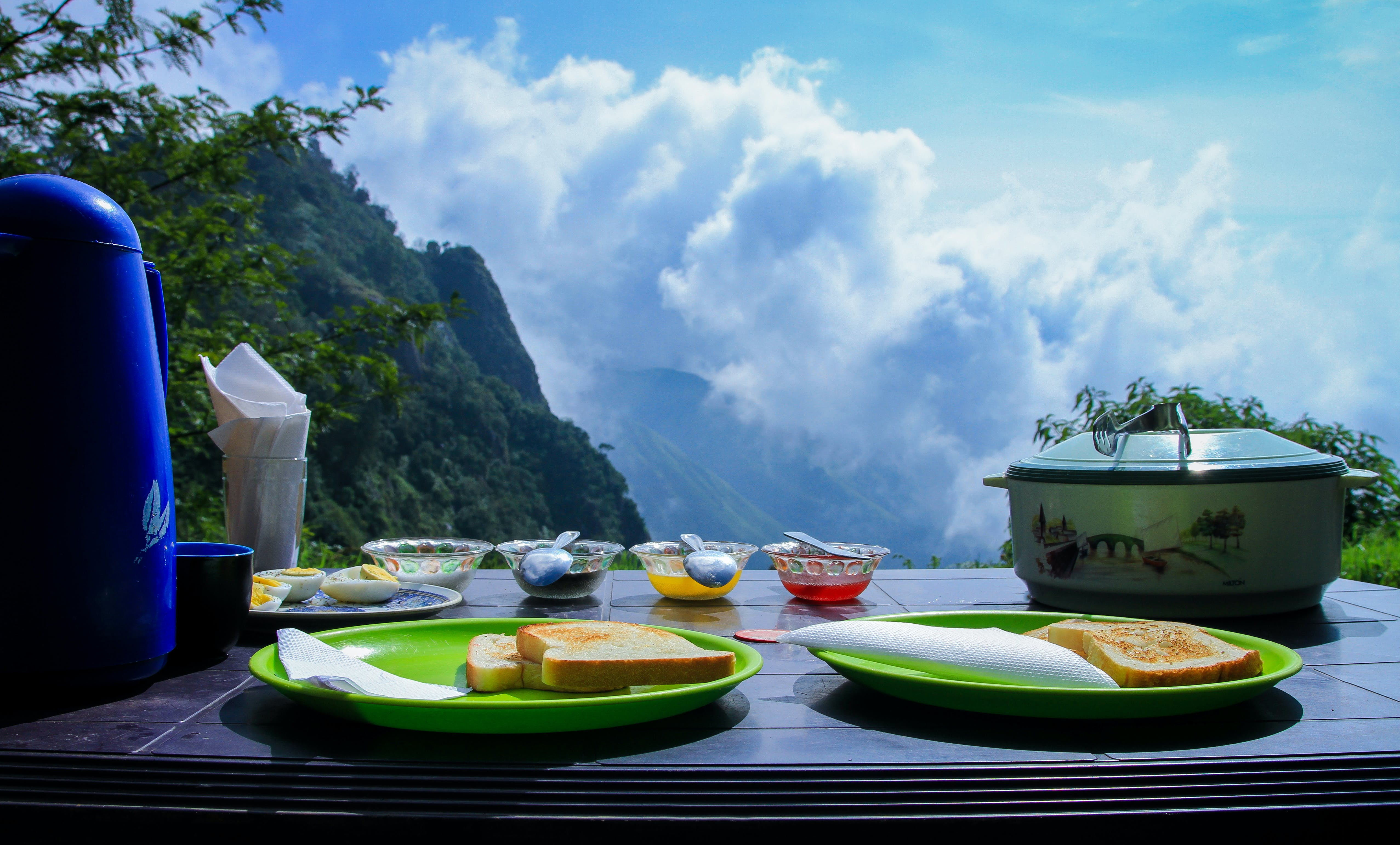 #outdoorchallenge, bowl, bread