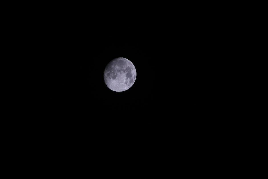 Gray Round Moon during Night