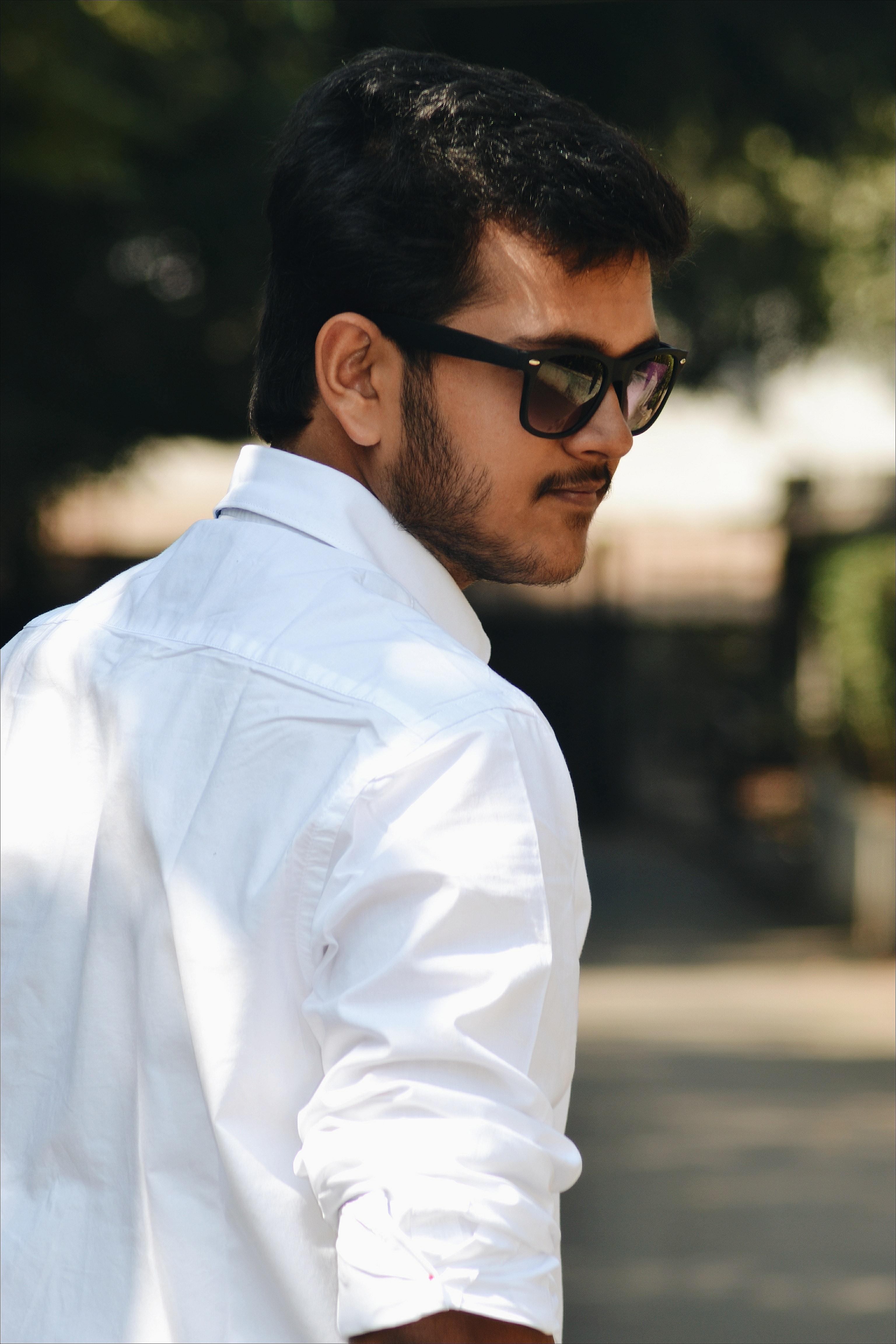Mens White Button-Up Dress Shirt  Free Stock Photo-5981