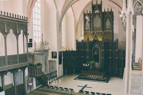 Altare Della Chiesa In Legno Nero