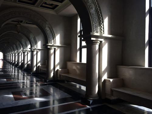 Free stock photo of grey, hallway, ray of sunshine