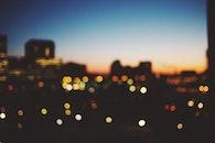 stadt, beleuchtung, nacht
