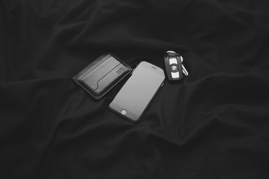 apple, black-and-white, BMW