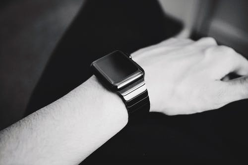Grayscale of Smartwatch