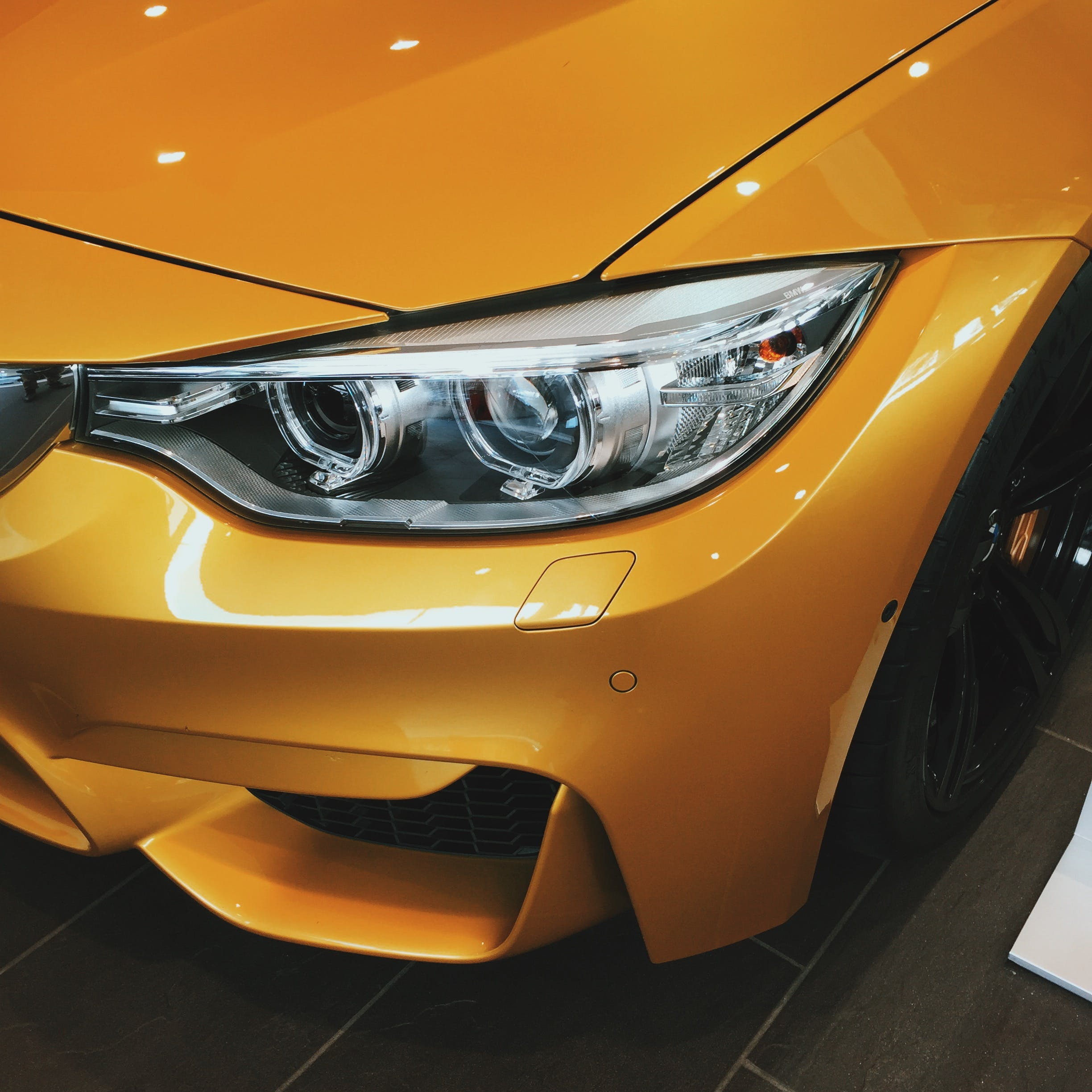 Yellow Bmw 4-series Headlight