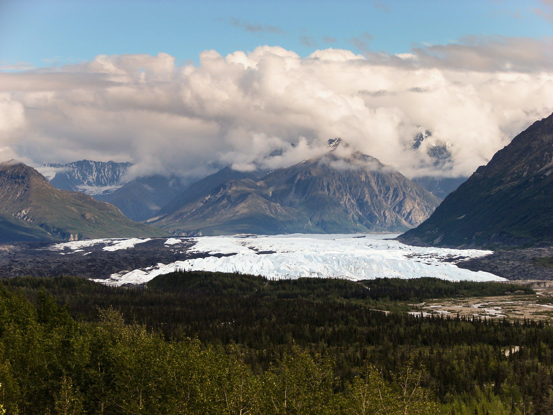 alaska, clouds, landscape