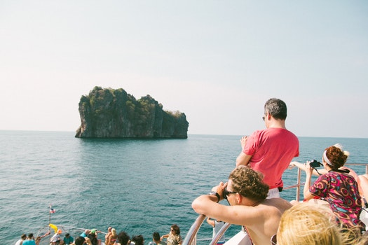 People Looking at Sea