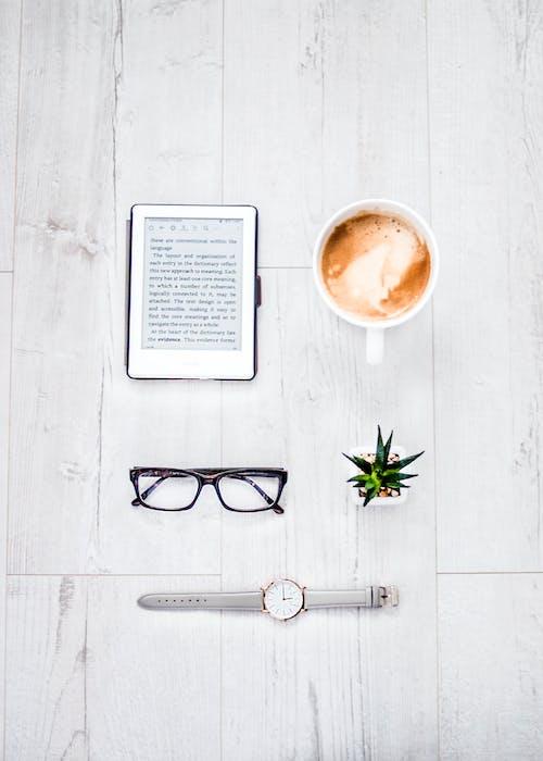 คลังภาพถ่ายฟรี ของ iPad, กาแฟ, กาแฟในถ้วย, คาเฟอีน