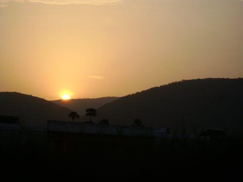 Free stock photo of sunset india