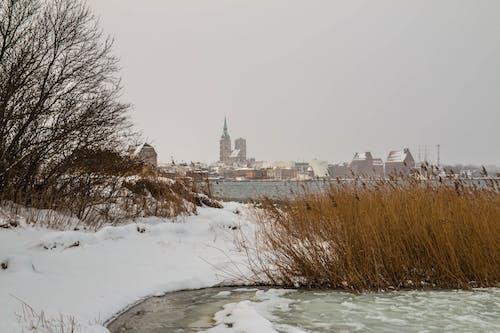 Baltık Denizi, Kent, kış, panorama içeren Ücretsiz stok fotoğraf
