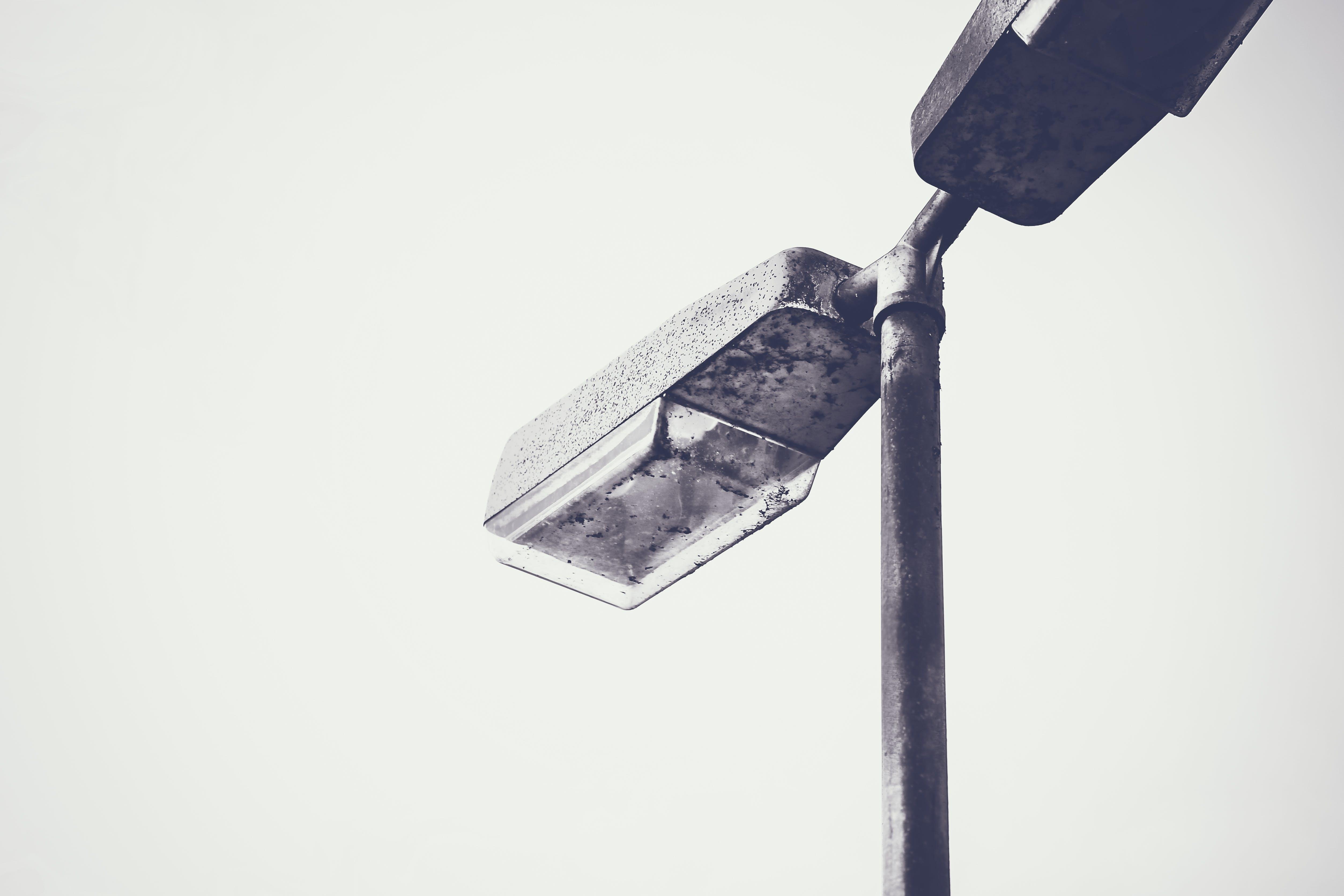 Free stock photo of alone, black&white, black-and-white, illuminated
