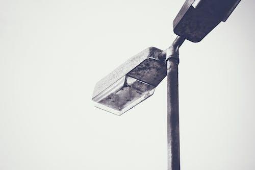 Základová fotografie zdarma na téma černá a bílá, černobílý, dva, lampa