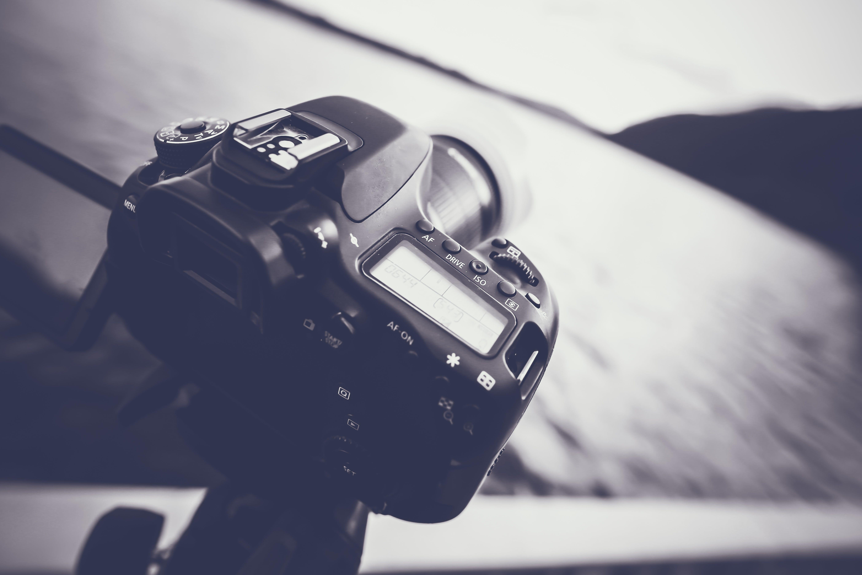 Free stock photo of black&white, black-and-white, body kit, camera