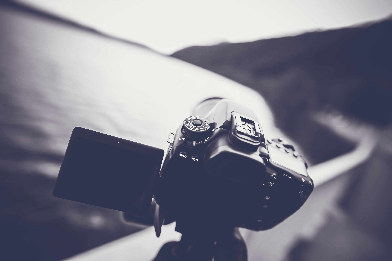 Dslr Camera Grayscale Photo