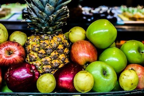 Kostnadsfri bild av ananas, äpplen, äta nyttigt, färsk