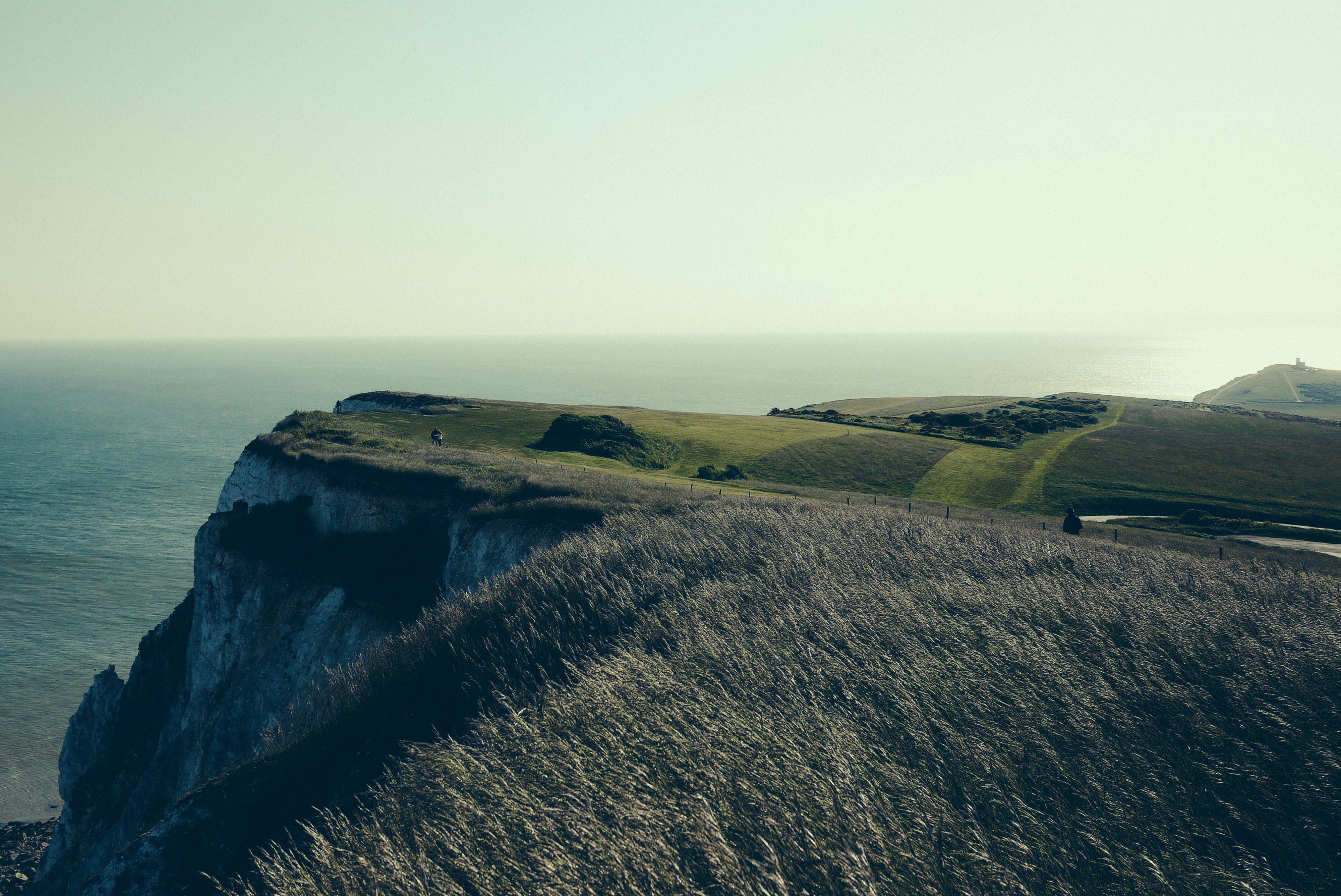 cliff, coast, mountain