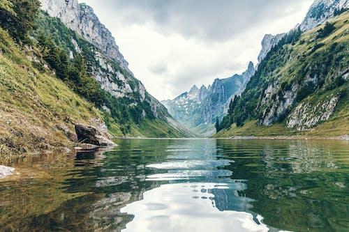 Free stock photo of alpstein, blue, fjord