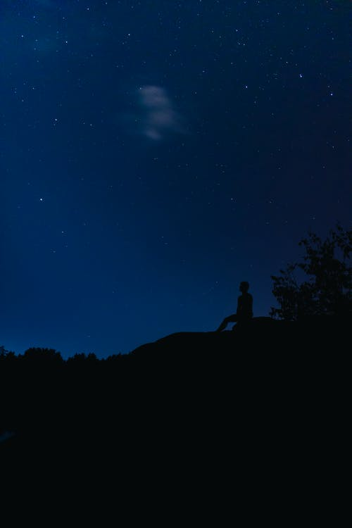 Free stock photo of lake, landscape, man in the night