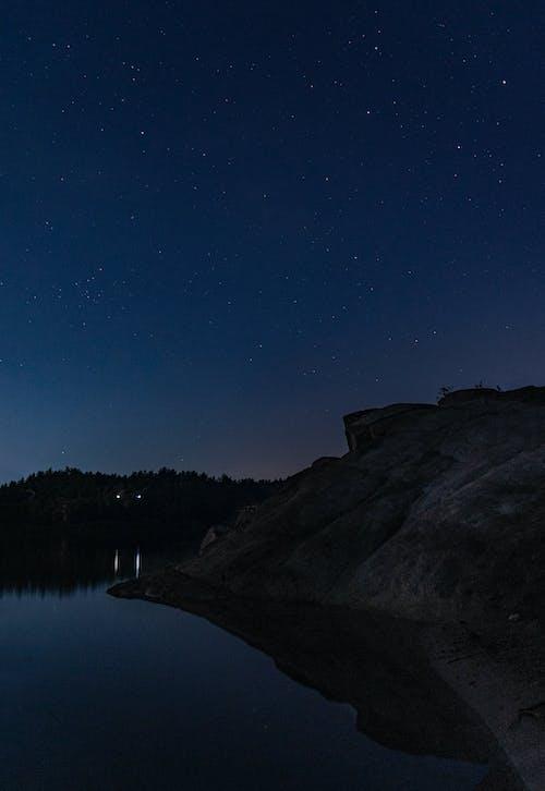 Free stock photo of lake, landscape, night